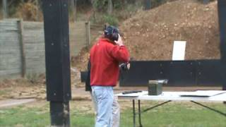 Jamie Allman at the FBI shooting range