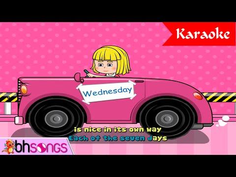 Days Of The Week Karaoke | Nursery Rhymes TV [Karaoke 4K]