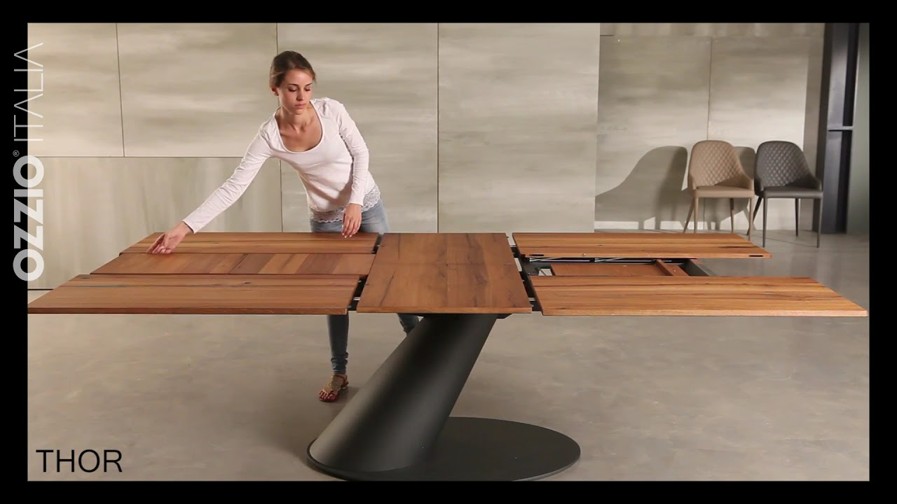 Extendable design table THOR by Ozzio Italia - space saving furniture