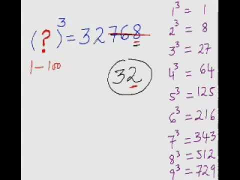 Cubic Root Trick - To Easily Find Cube Roots (where cube root value