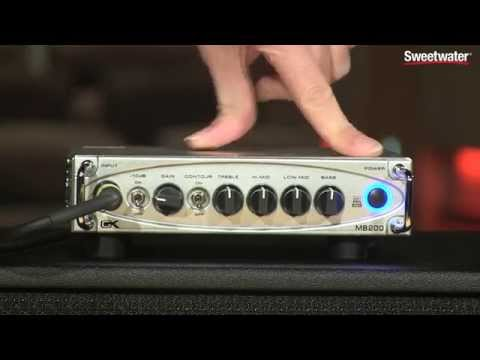 Gallien-Krueger MB200 Ultra Light Micro Bass Head Demo by Sweetwater