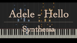 Adele Hello Piano Instrumental Cover in Synthesia
