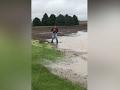 NE Farmer Wakeboards on Flooded Cornfield