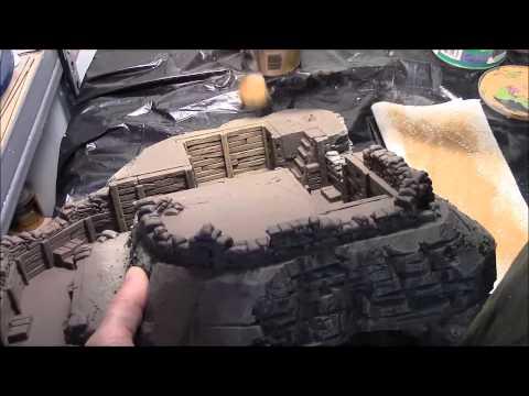 Sandbag Fortress Part 10: Medium Dry Brushing On Planks And Sandbags