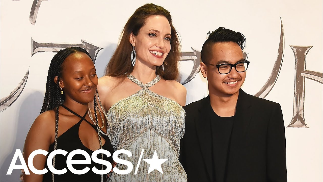 Angelina Jolie Shimmers At Maleficent 2 Premiere While Reuniting With Son Maddox