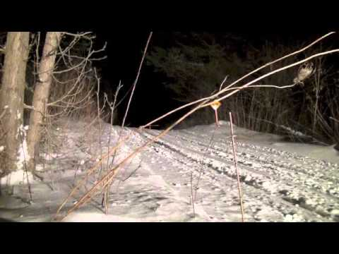 OFSC District 1 CRSC Night Grooming Snowmobile Trail Husky Prinoth