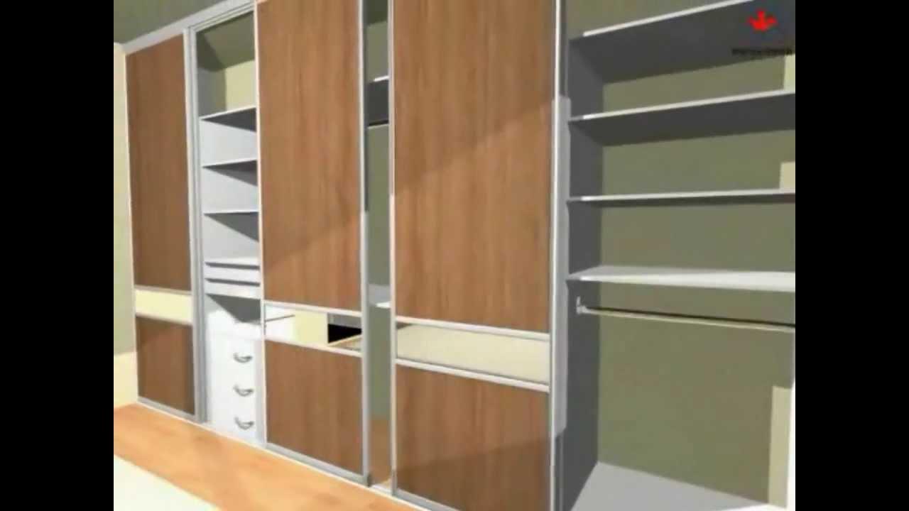 Closets de casal com portas deslizantes youtube for Modelos de zapateras para closets
