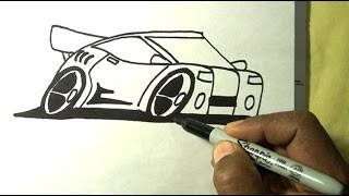 How To Draw CARTOON CAR using Sharpie Markers The EZ-Way