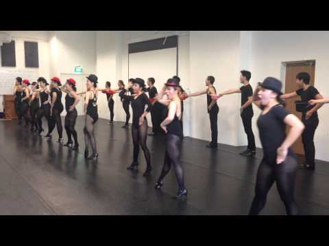 LASALLE College of the Arts SINGAPORE Level 1's & 2's doing ONE from A CHORUS LINE