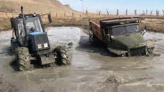 Трактор Беларус Против УРАЛ 6х6 по Болоте | OFF-ROAD 2020