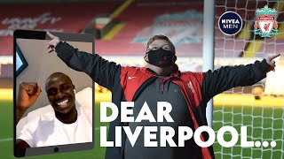 Sadio Mane helps lifelong Liverpool fan score at Anfield | 'You shoot better than Robbo!'
