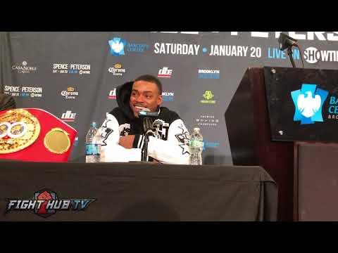 ERROL SPENCE JR LAUGHS AT AN AMIR KHAN FIGHT