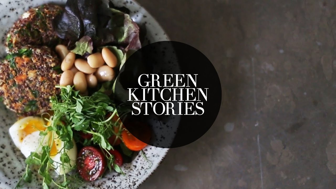 spinach quinoa patties green kitchen stories youtube. Black Bedroom Furniture Sets. Home Design Ideas