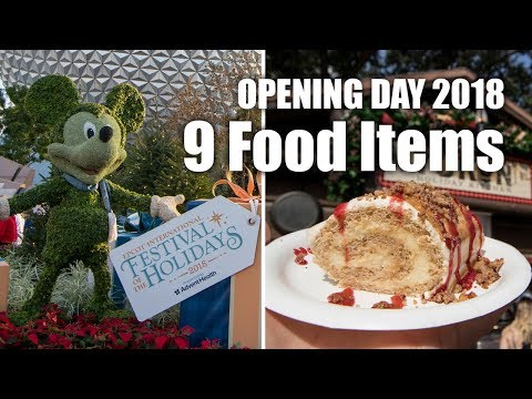 Opening Day of Epcot Festival of the Holidays 2018 | Walt Disney World