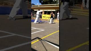 Reverse Turning Kick Demonstration