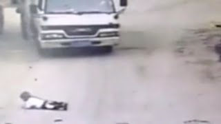 Van Drives Over Kid and He Survives