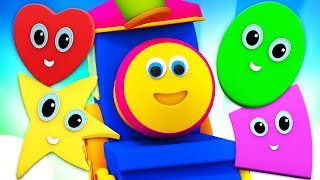 Shapes Go Rolling By | Preschool Learning Videos For Babies | Bob The Train Cartoons