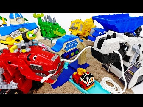 Dinotrux, Let's Build A Road~! D-Structs Cannot Disturb Us  - ToyMart TV