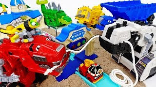 Dinotrux, Let's Build A Road~! D-Structs Cannot Disturb Us  - ToyMart TV