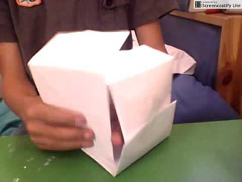 how to make a 2x2 rubik 39 s cube out of paper youtube. Black Bedroom Furniture Sets. Home Design Ideas