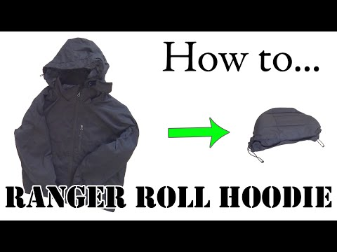 Army Hack: How to Fold / Ranger Roll a Hoodie or Hooded Jacket - Efficient Packing for Travel
