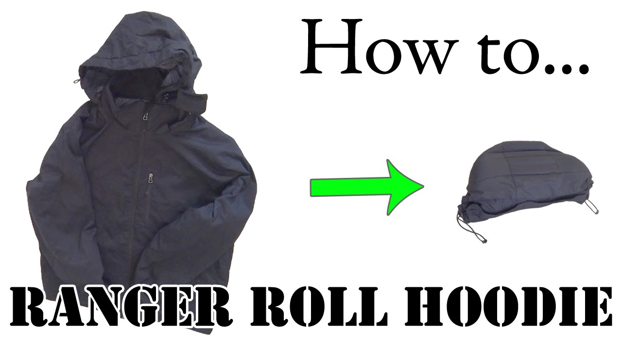 Best way to fold clothes for a trip - Army Hack Ranger Roll A Hoodie Or Hooded Jacket Efficient Packing For Travel Youtube