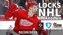 NHL 02/20/19 Breakdown for DraftKings and FanDuel