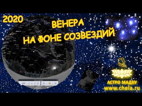 Когда можно наблюдать Венеру в 2020 году, на фоне каких звезд и планет// Венера в накшатрах