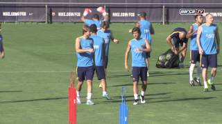 FC Barcelona training session: First day of pre-season