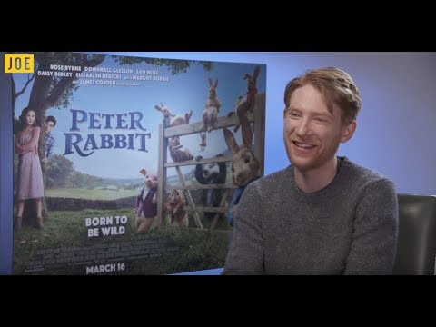 Domhnall Gleeson on his XMen 'audition,' Peter Rabbit and Paddington 3