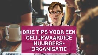3 tips voor een gelijkwaardige huurdersorganisatie