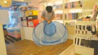 蒙古包蚊帳收納方式