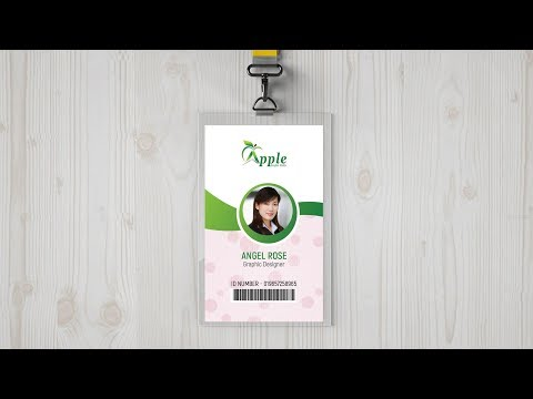 ID Badge Design Tutorial - Size Of ID Card In Photoshop