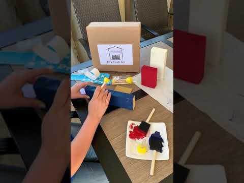 Painting Wood With A Stencil - The She Shed DIY Craft Kit Trio Tutorial