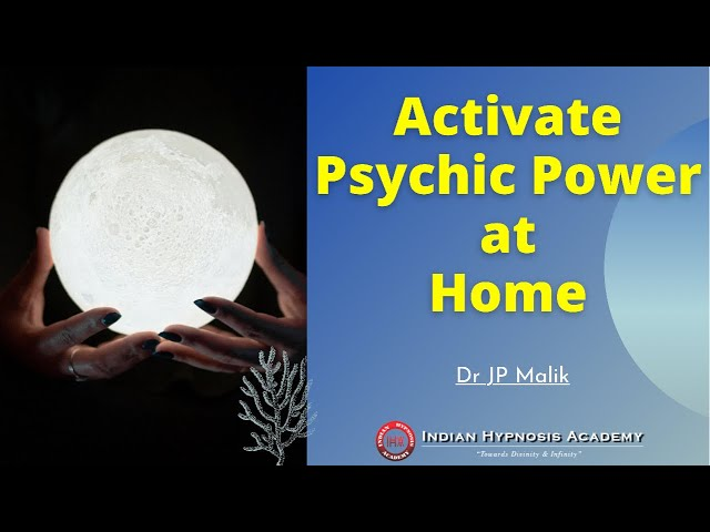 Develop Your Psychic Power At Home | Dr. J P Malik (in Hindi)