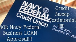 50k Navy Federal approval|| Credit Sweep client testimonial