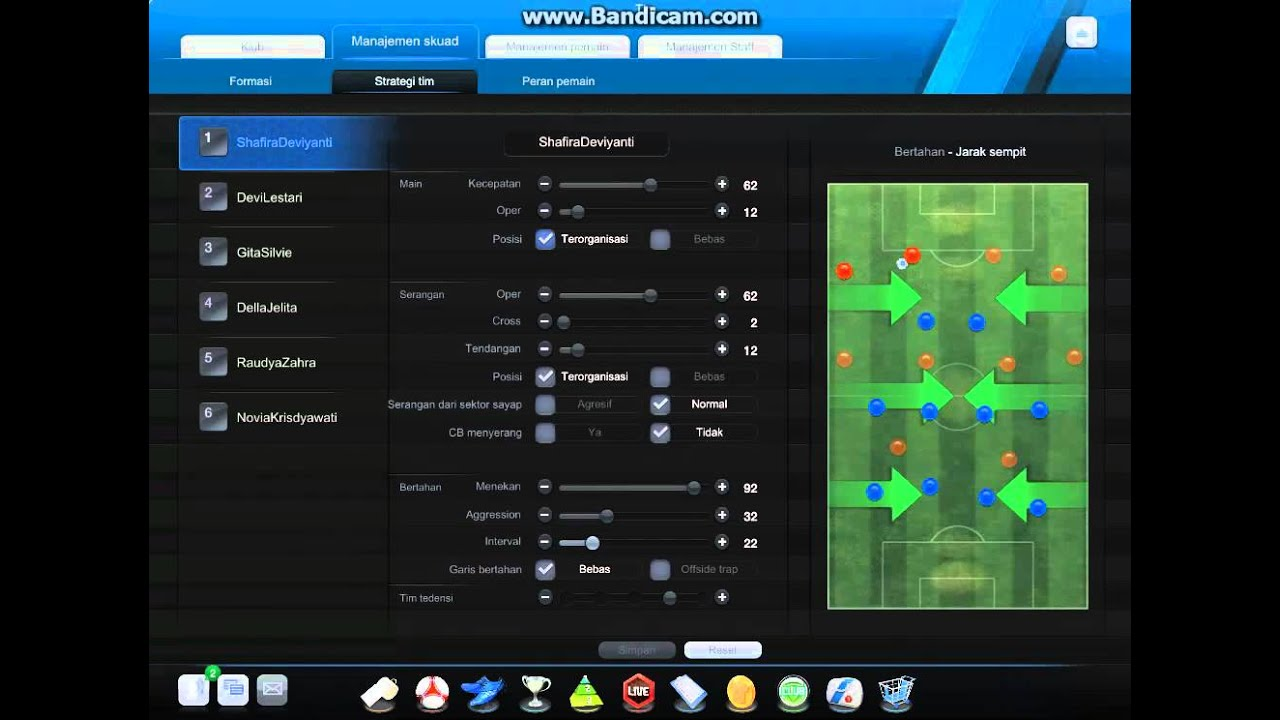 Formasi Strategy 2 3 5 Mode Manager Fifa Online 3 Indonesia