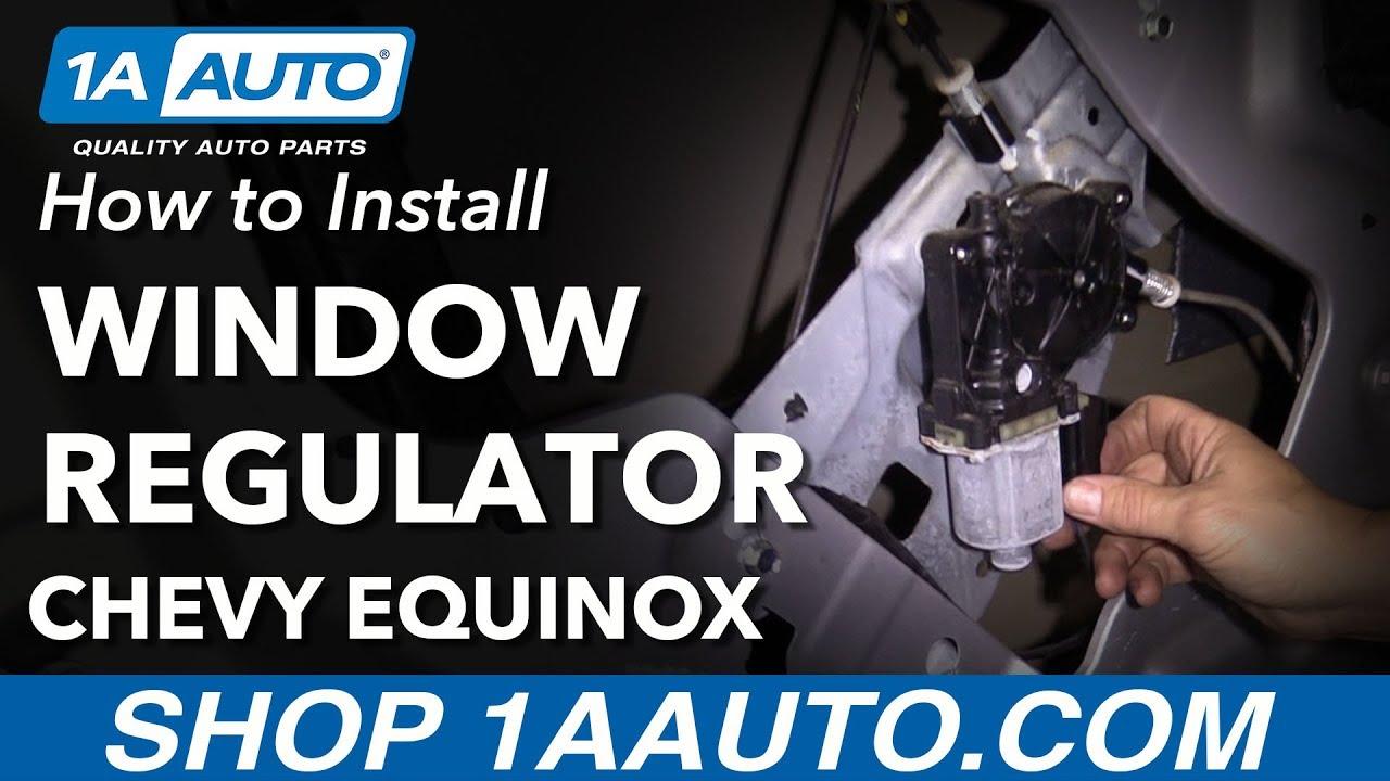 How to Replace Front Window Regulator 10-17 Chevy Equinox