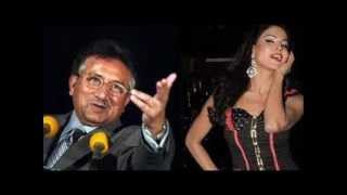 Veena Malik and Pervez Musharraf Singing Same  Song
