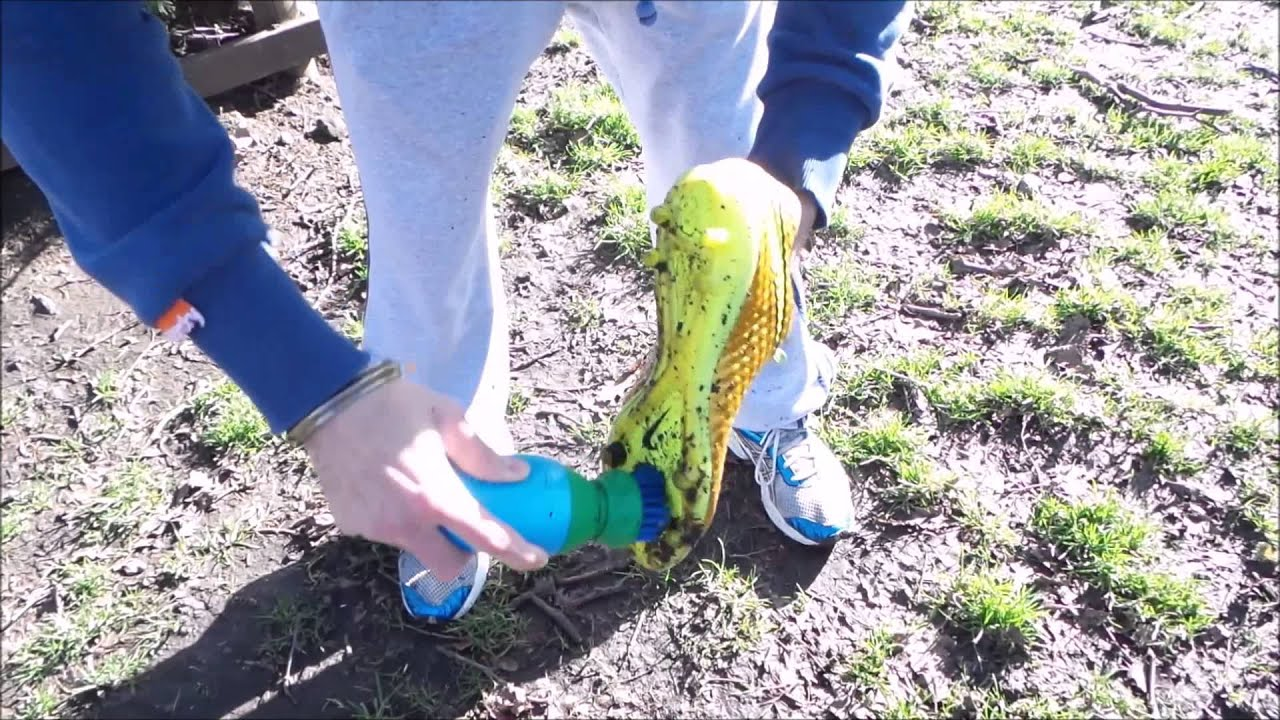 how to clean football boots