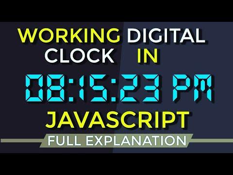 Digital Clock using JavaScript : Working Clock with Digital Font (2018) | Clock using JavaScript thumbnail