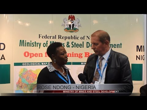 Rose Ndong Director for Minerals Investment Nigeria talks with Tim Mckinnon at Mines and Money