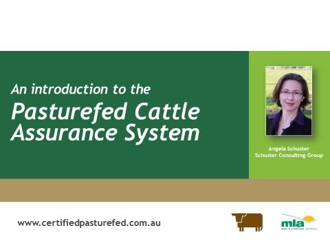 Pasturefed Cattle Assurance System - What's involved?