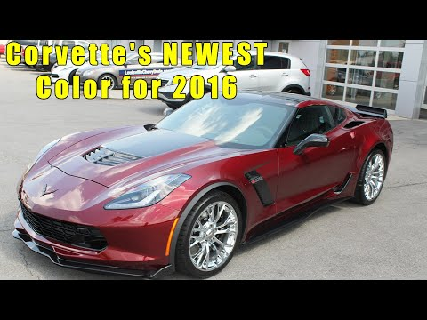 2016 Corvette Long Beach Red Metallic Color up close view for the 2016 Corvette Stingray