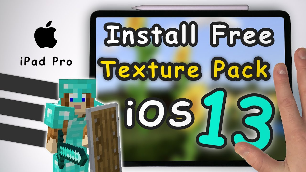 How to Install Free Texture Pack in Minecraft PE on iOS13 / iPhone / iPad