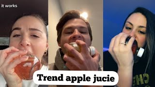 battle of apple jucie sound like you bite real apple