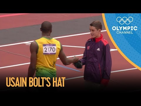 Thumbnail: Usain Bolt Gives His Hat To Young Volunteer - London 2012 Olympics