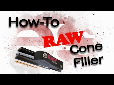 How To: Fill Pre-Rolled Cones With The RAW Cone Filler
