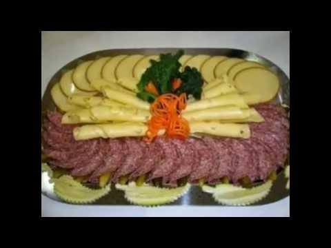 Сырная и мясная нарезка на праздничный новогодний стол 2014.