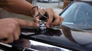 How to Install Hood Emblem   Replace Hood Ornament on E Class Mercedes   W211